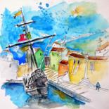 Portugal  Sketches and Paintings - 2 - by Miki de Goodaboom