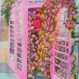 """Painting titled """"Cute London"""" by Happipaints, Original Art, Acrylic"""