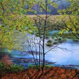 """Painting titled """"Delamere moss in au…"""" by Hazel Thomson, Original Art, Oil"""