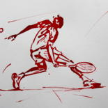 Tennis-Peintures-Dessins-Calligraphies by IBARA