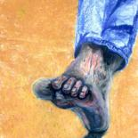 """Drawing titled """"Tread"""" by Igzotic, Original Art, Chalk"""
