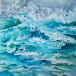 Watercolor waves / ondas em Aguarela by Isabel Alfarrobinha