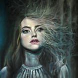 Painting, oil, surrealism, artwork by Jessica Astier