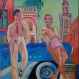Pop Culture Painting, oil, figurative, artwork by Jean Claude Colombano