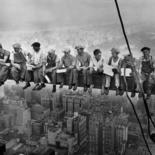 """An entrepreneur in Rockefeller Center wants to develop a tourist attraction based on the iconic """"Lunch Atop a Skyscraper"""" photograph"""
