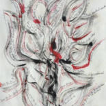 Tree Drawing, ink, calligraphy, artwork by Jeannette Allary