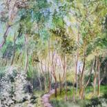Landscape Painting, oil, impressionism, artwork by Jean-Philippe Guffroy