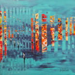 Abstract Painting, acrylic, abstract, artwork by Jean-Humbert Savoldelli