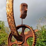 82.7x11.8x5.9 in ©2018 by Johan-j- Smid-sculptures.nl