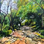 """Painting titled """"A Shady Country Road"""" by J S Ellington, Original Art, Acrylic"""