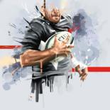 oeuvres d'art numériques Rugby by Karine Brailly