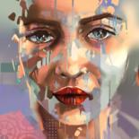 """Digital Arts titled """"Any"""" by Karine Brailly, Original Art, Digital Painting Mounted on Stretcher frame"""