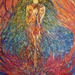 """Painting titled """"The Priestess of Is…"""" by Karisma, Original Art, Other"""
