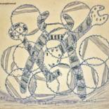 9.1x9.8 in ©1968 by Ezechiele Leandro (1905-1981)