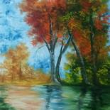 Painting, oil, impressionism, artwork by Leonor Solbes
