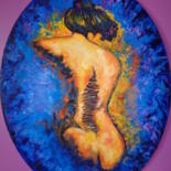 Painting, oil, impressionism, artwork by Virginie Le Roy