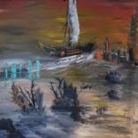 Painting, oil, outsider art, artwork by Pascal Jung