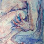 """Painting titled """"Anxiety"""" by Linda Schneider, Original Art, Watercolor"""