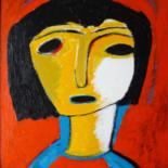 """Painting titled """"Mona-Lisa-2019…"""" by Louis Lambry, Original Art, Acrylic Mounted on Stretcher frame"""