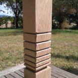4.3x3.5x17.7 in © by Ludovik BOST  TOTEMS Cambium-même