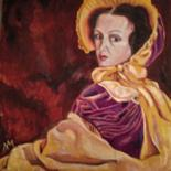 """Painting titled """"Lady in a violet dr…"""" by Liudmila Matrosova, Original Art,"""