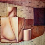 OIL & COLLAGE by Miguel Esquivel Kuello