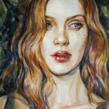 """Painting titled """"Freckles"""" by Olga Shevcova, Original Art, Watercolor"""