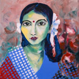 L'Inde en face - Acrylique by Véronique Piaser-Moyen