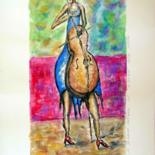 """Painting titled """"Body-player"""" by Barbera, Original Art, Watercolor"""
