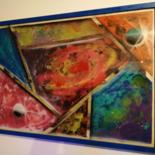 Painting, spray paint, abstract, artwork by Pierre Saudet