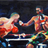 Sport Painting, oil, figurative, artwork by Pierre Wuillaume