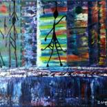 40x50x1.5 cm © by Isabelle Lagier Pinkivioletblue