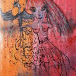 50x40x1.5 cm © by Isabelle Lagier Pinkivioletblue