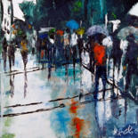 Painting, oil, expressionism, artwork by Robert Charles