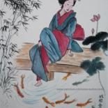 PAYSAGES et PERSONNAGES - Peintures chinoises by Roselyne PEGEAULT