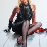 """Painting titled """"Red lipstick."""" by Shulman, Original Art, Oil"""