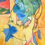 """Painting titled """"Man and Dog 2"""" by Simon Taylor, Original Art,"""