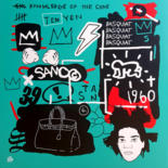 """Painting titled """"Basquiat by STAN"""" by Stan, Original Art, Acrylic"""