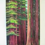 Redwoods and Sequoias on canvas by Stuart C Foster