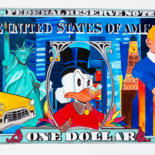 """Painting titled """"One dollar"""" by T. Angot, Original Art, Acrylic"""