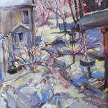 Painting, oil, impressionism, artwork by Don Bourret