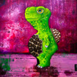 """Painting titled """"Little Tortue"""" by Toma, Original Art, Acrylic"""