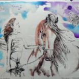 Ink Drawing and dry point by Katerina Evgenieva