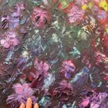 """Painting titled """"Flowers for soul Pa…"""" by Victo, Original Art, Oil"""