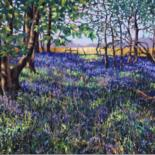 """Painting titled """"Bluebell Wood"""" by Zoe Norman, Original Art, Oil"""